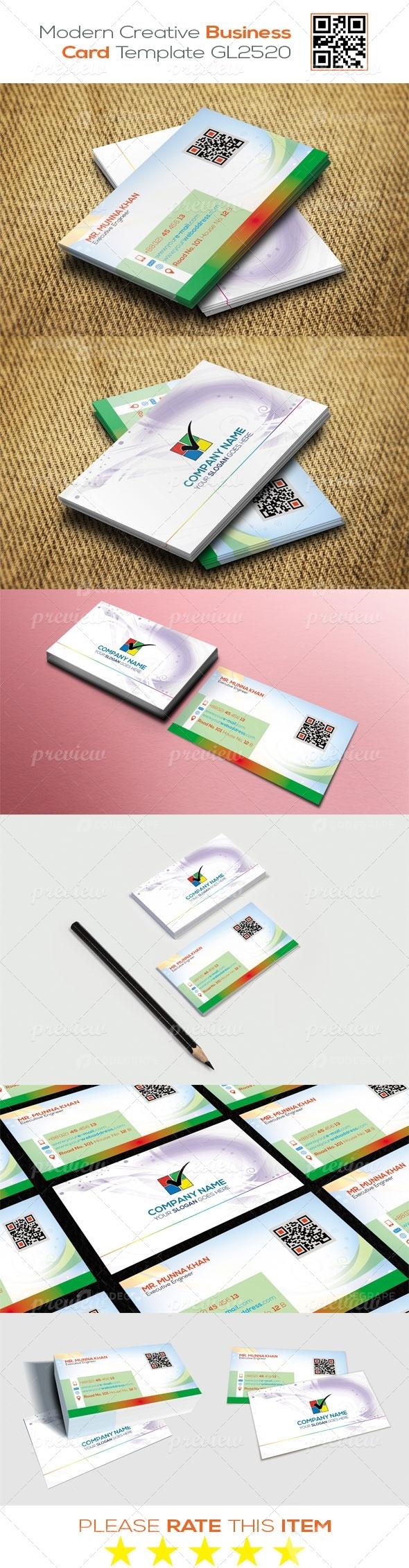 Modern Creative Business Card Template GL2520