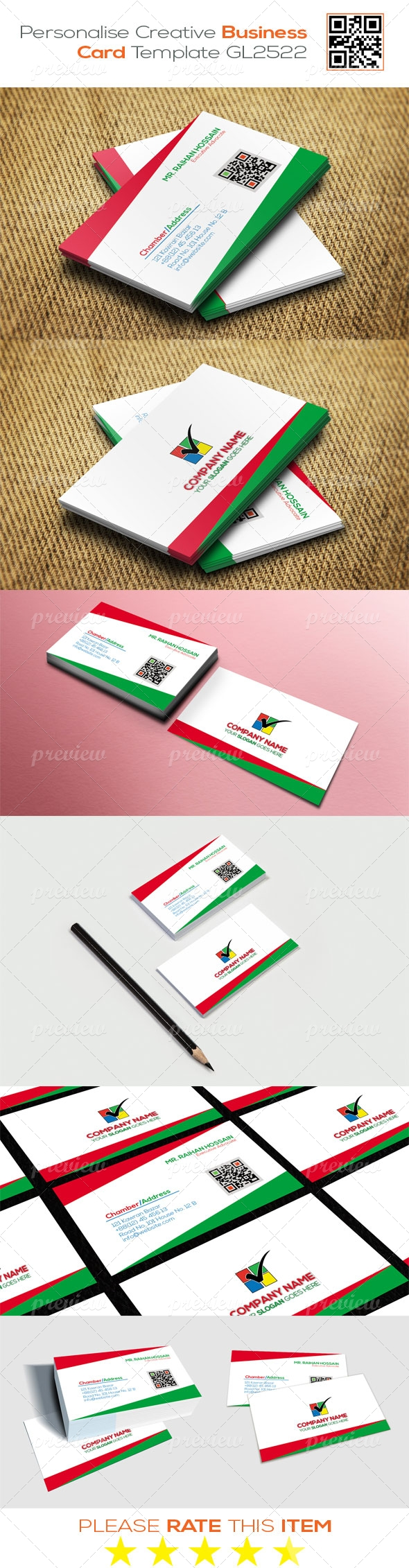 Personalise Creative Business Card Template GL2522