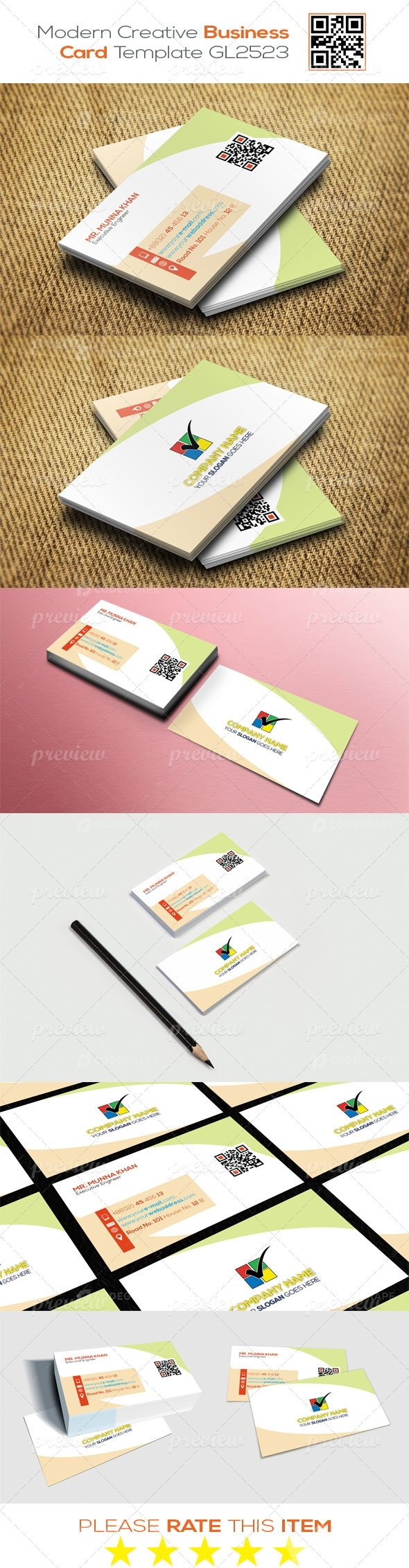 Modern Creative Business Card Template GL2523
