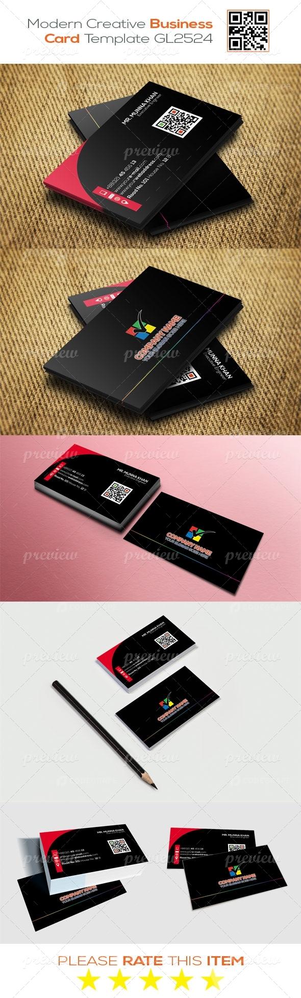 Modern Creative Business Card Template GL2524