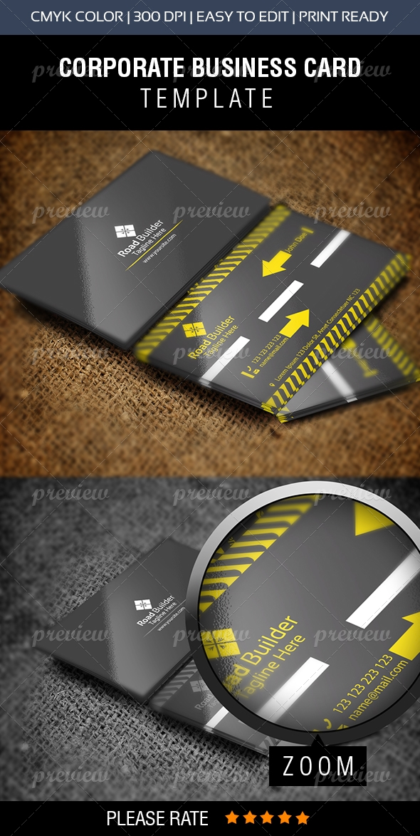 Road builder construction business card print codegrape road builder construction business card reheart Image collections