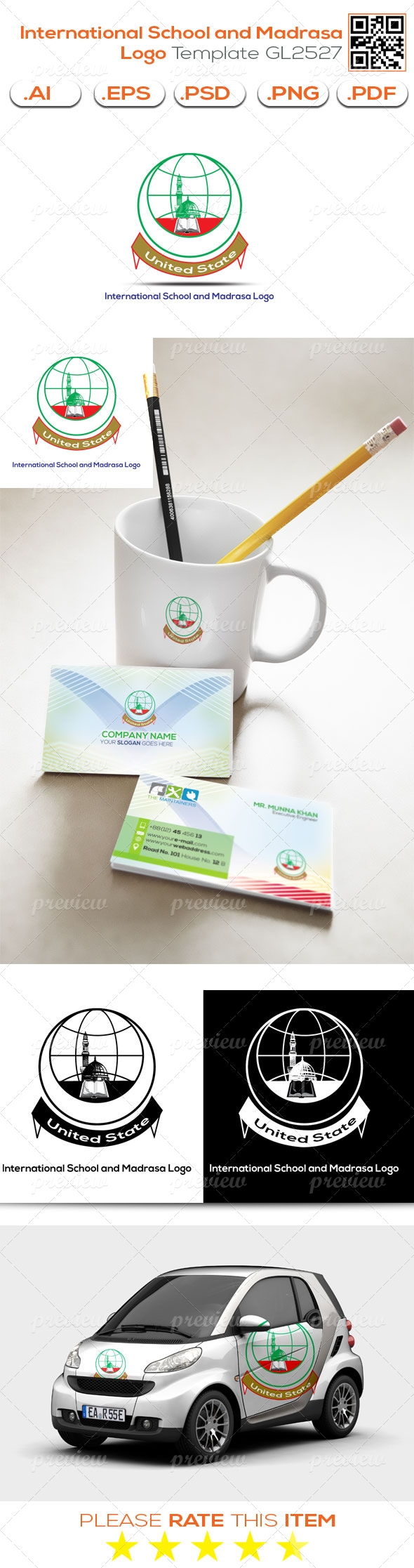 International School and Madrasa Logo Template GL2527