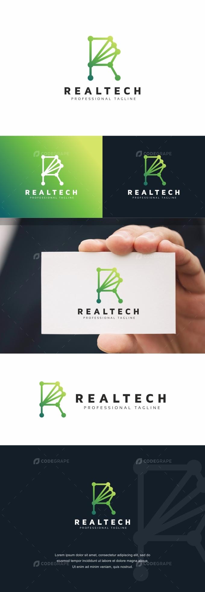 Realtech R Letter Logo