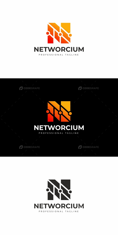 Networcium N Letter Logo