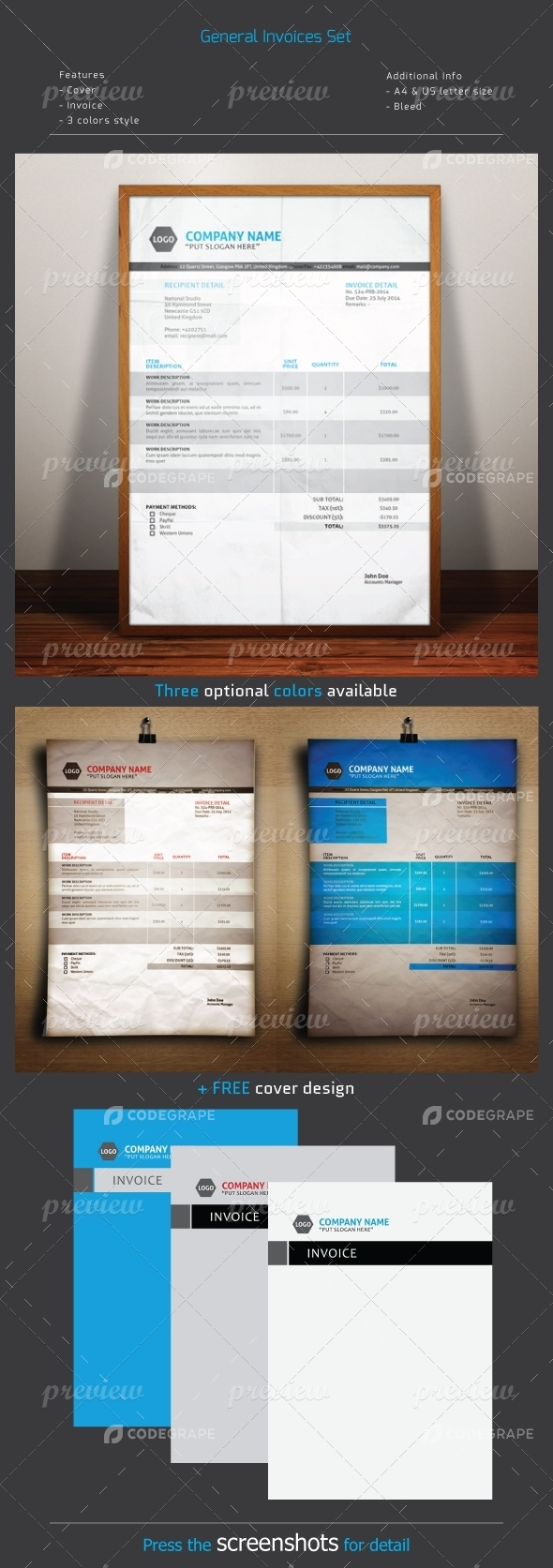 General Invoice Set