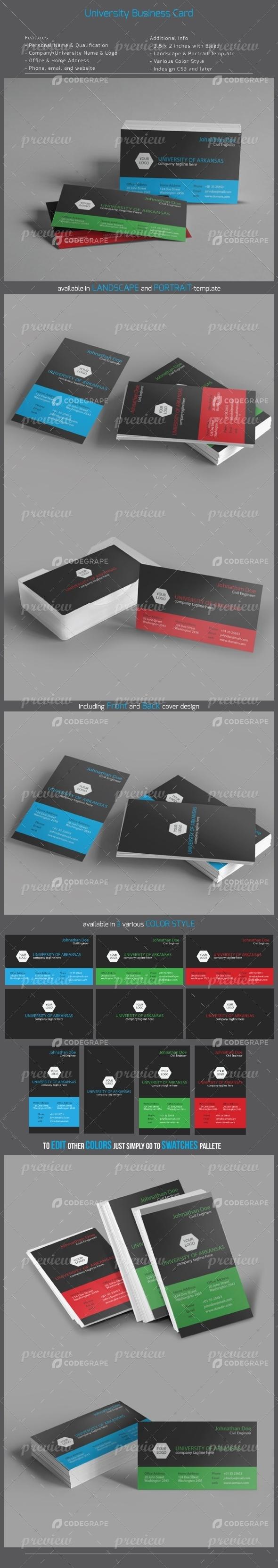 University Business Card