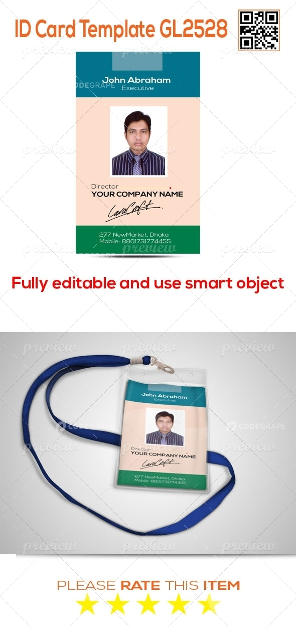 ID Card Template GL2528