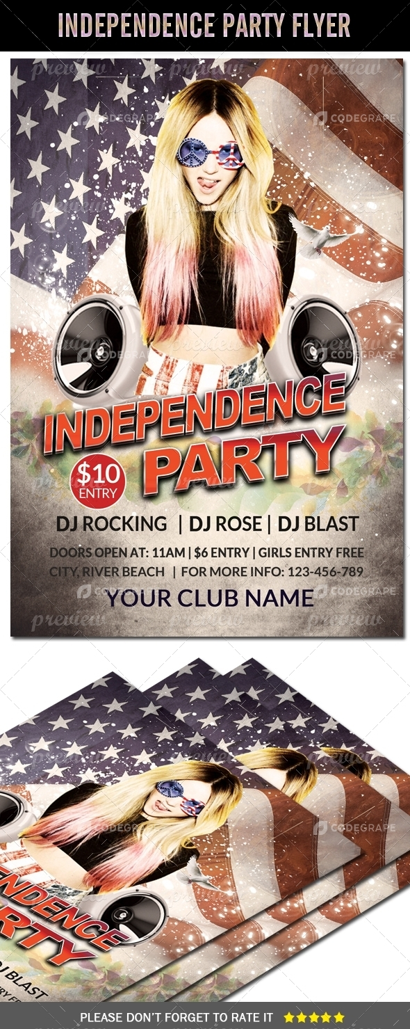 4th July Independence Day Flyer