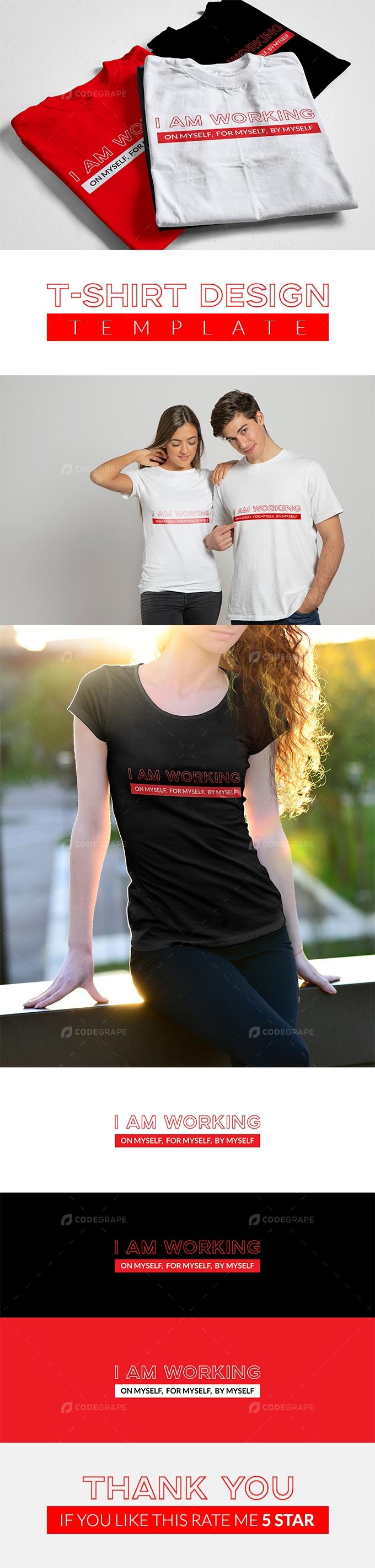 I'm working, T-shirt Design