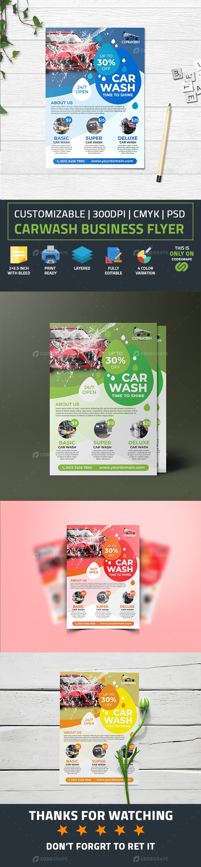 Carwash Business Flyer