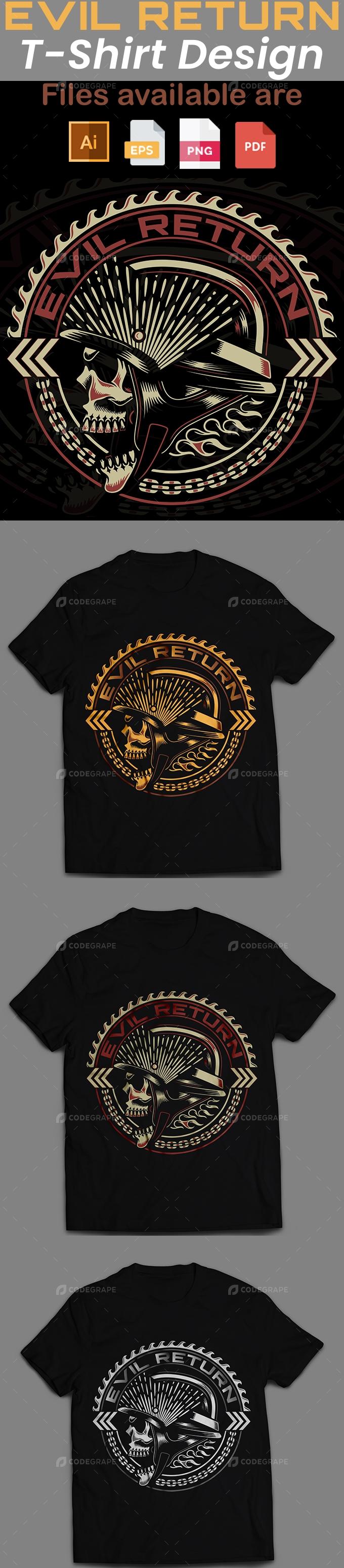 Evil Return T-Shirt Design