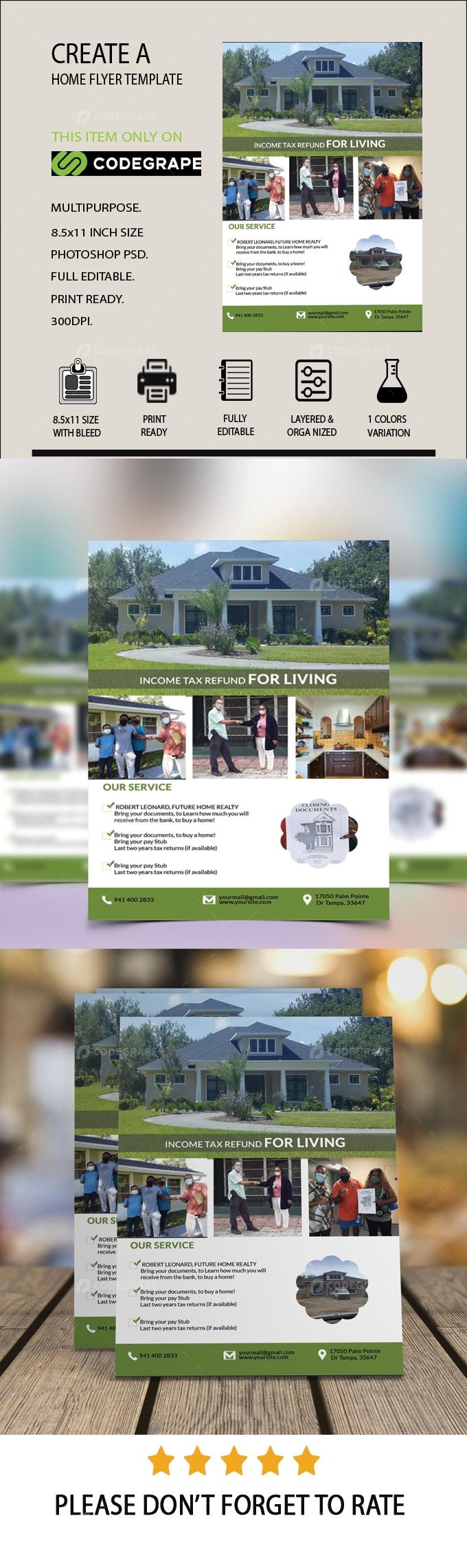 CREATE A home flyer