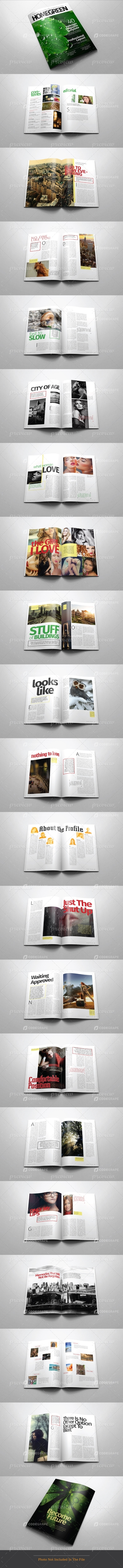 A4/Letter Indesign Magazine Template v.01