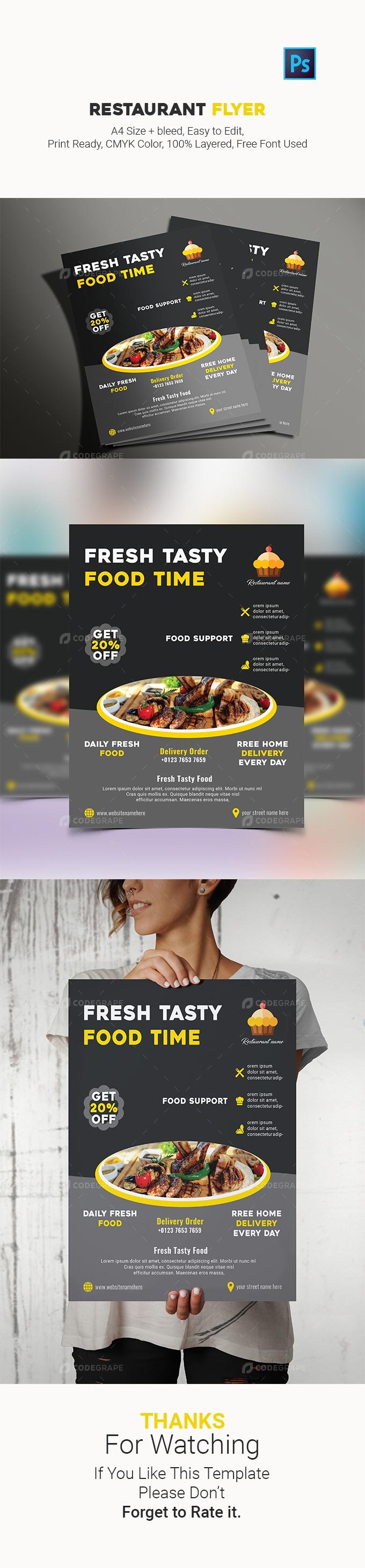Restaurant flyre design template