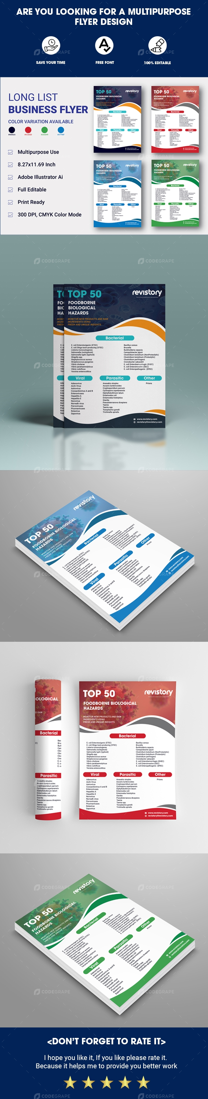 Long List Business Flyer