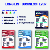 Long List Business Flyer