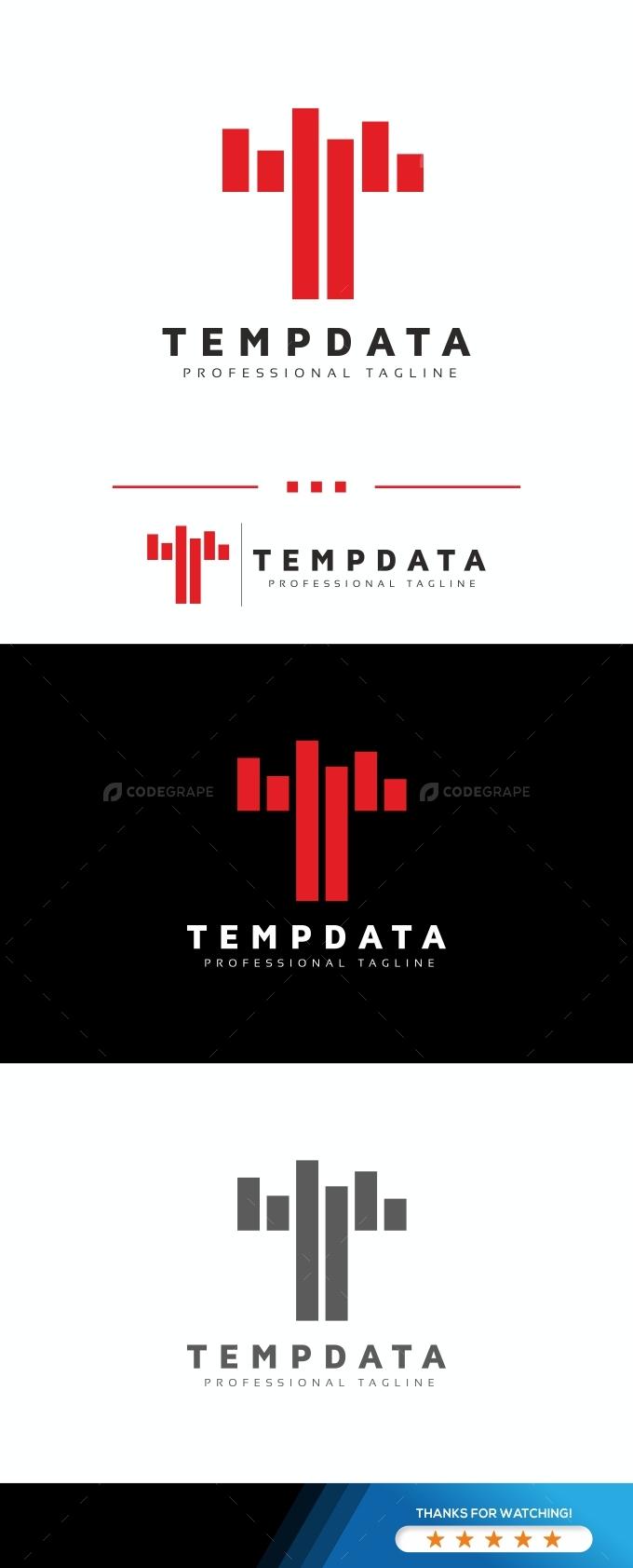Tempdata T Letter Logo
