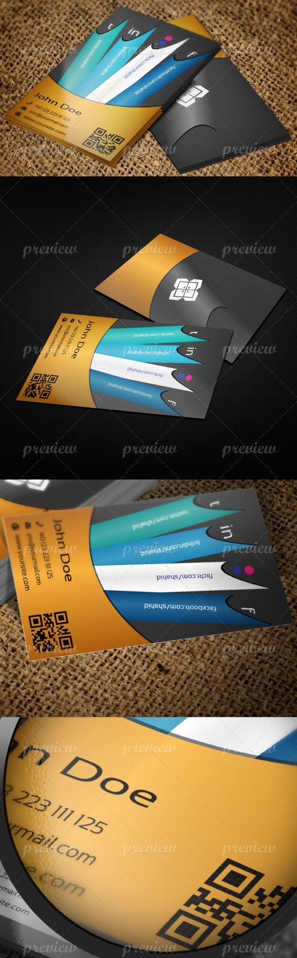 Jabbi V32 Network Business Card