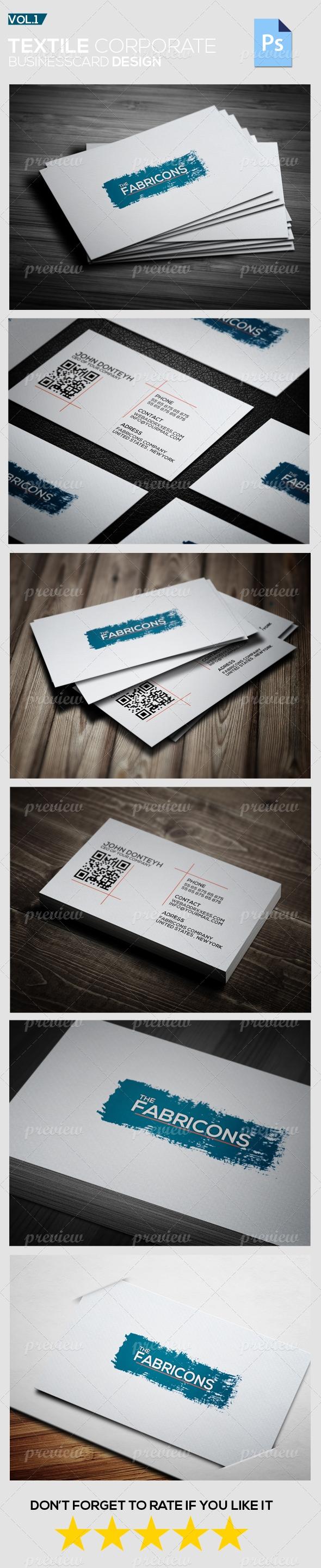 Textile Corporate Business Card