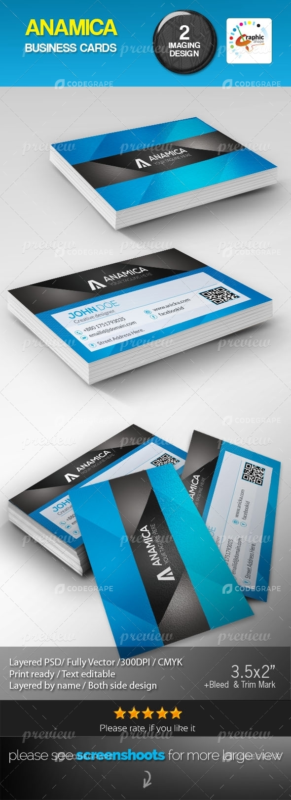 Anamica Business Cards