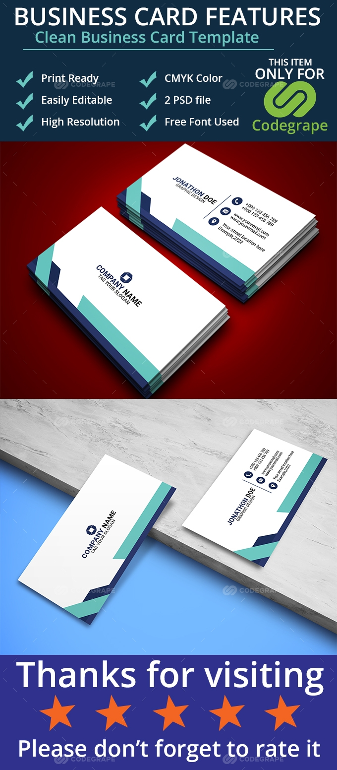 Clean Business Card