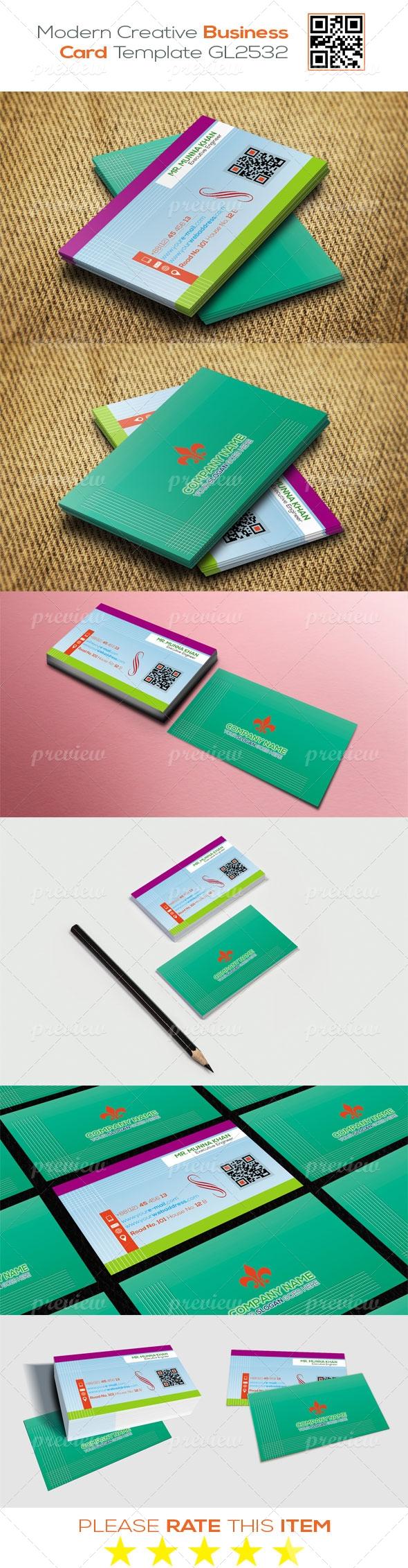 Modern Creative Business Card Template GL2532