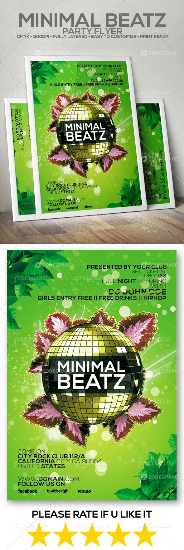 Minimal Beatz Party Flyer