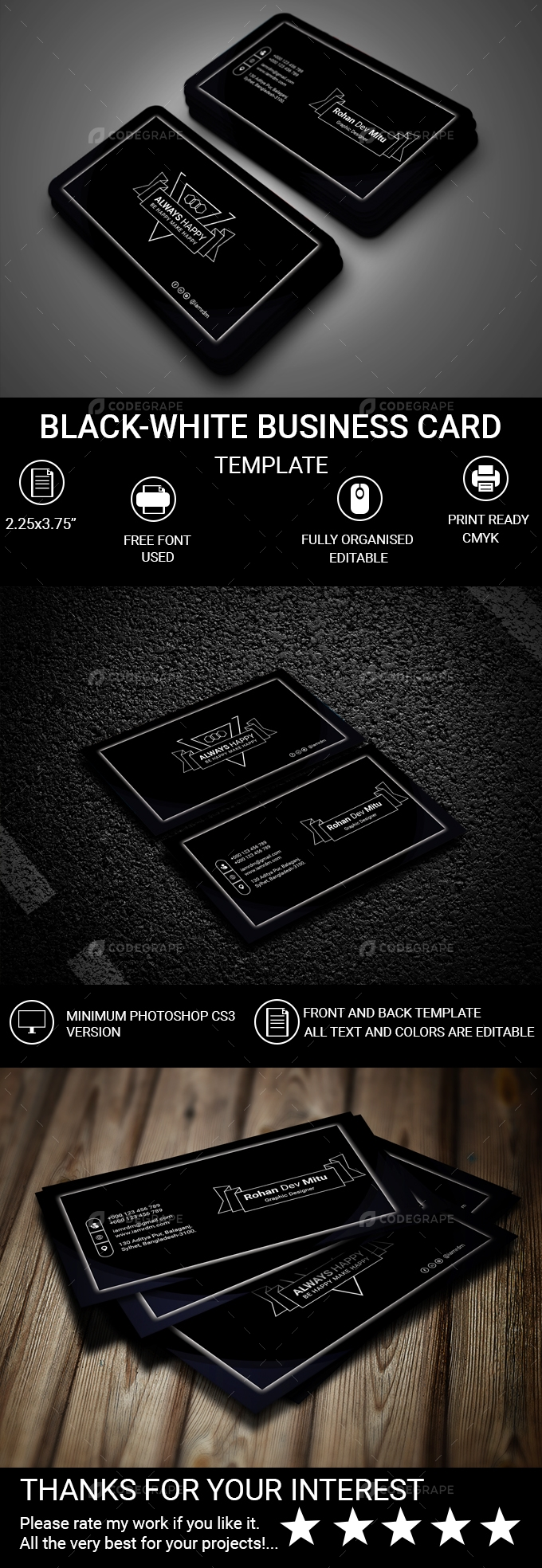 Black-White Business Card