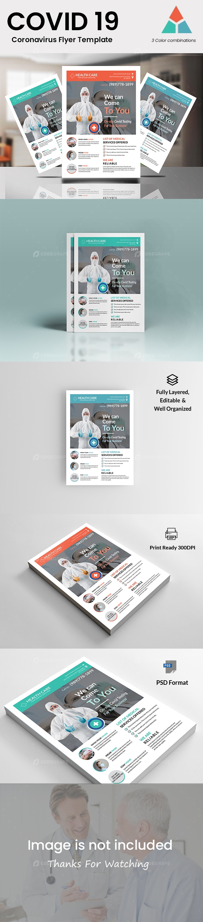 Covid 19 Flyer Template
