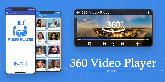 360 Video Player View Panorama 4K 360 Degree : VR Media, 360 View App