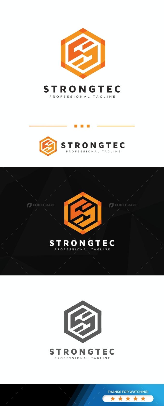 S Hexagon Letter Logo