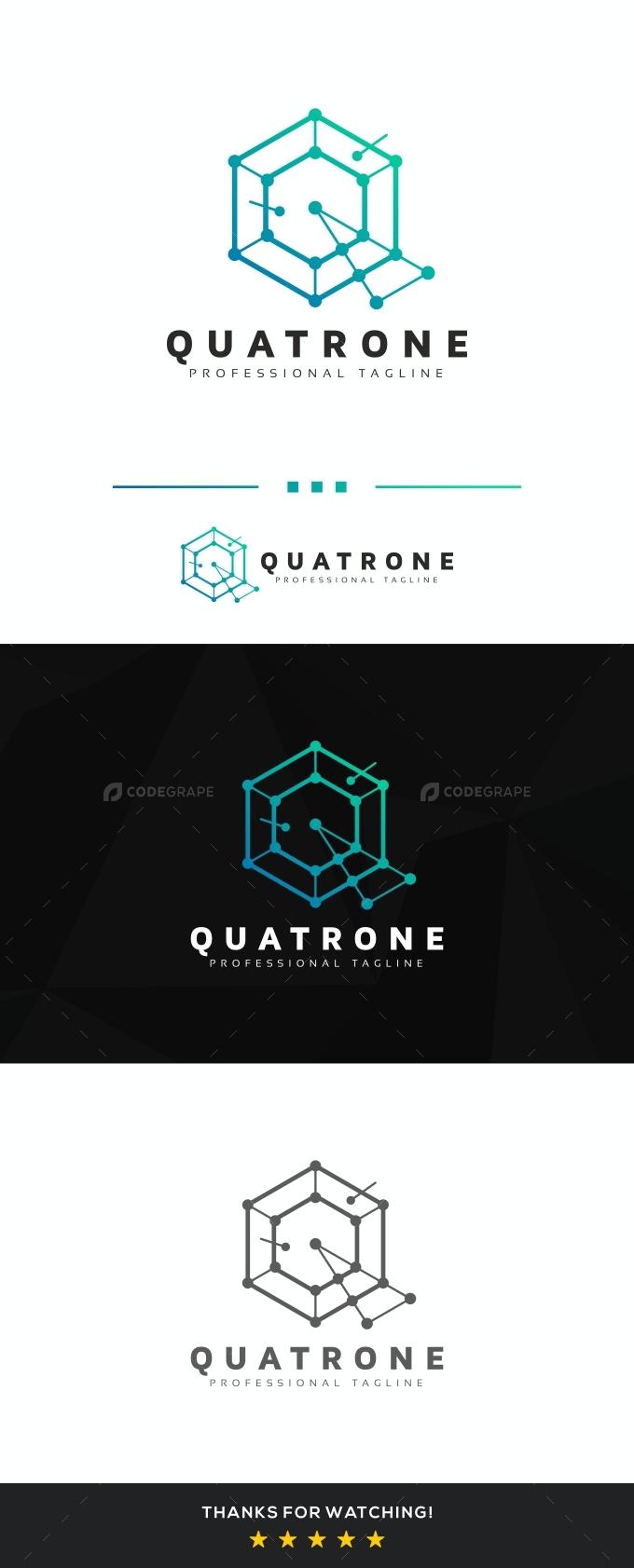 Quatrone Q Letter Logo