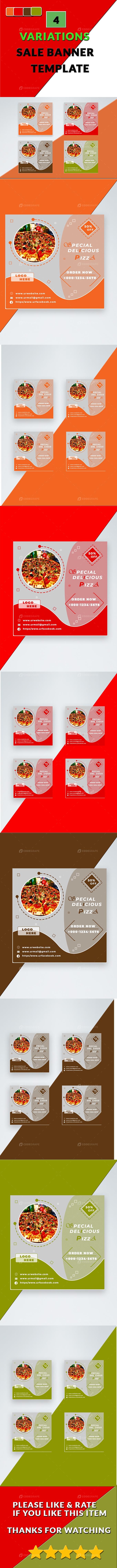 Delicious Pizza Sale Banner