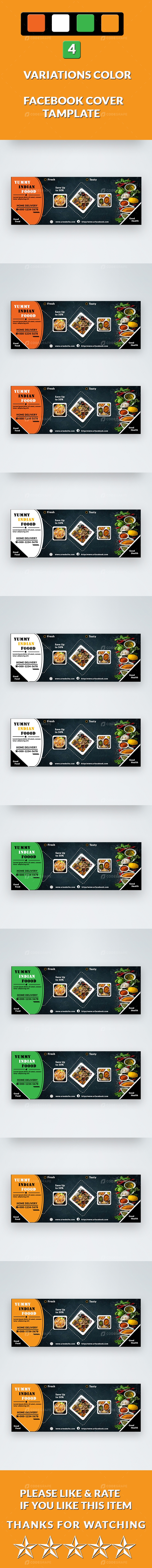 Yummy Indian Food Facebook Cover