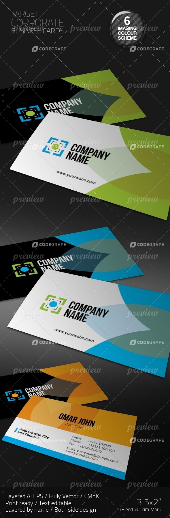 Target Corporate Business Cards