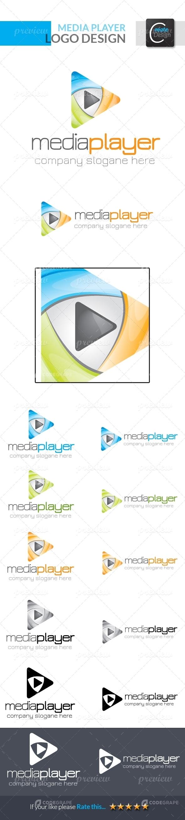 Mediaplayer Logo Templates