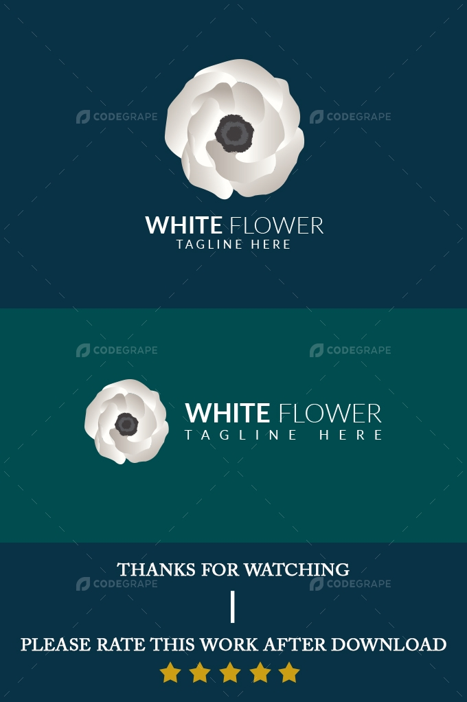 White Flower Logo