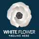 White Flower Logo