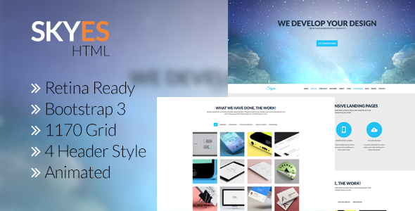 Skyes - Multiporpose Retina HTML5 Template