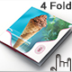 Ice Cream Shop Four Fold Square Brochure