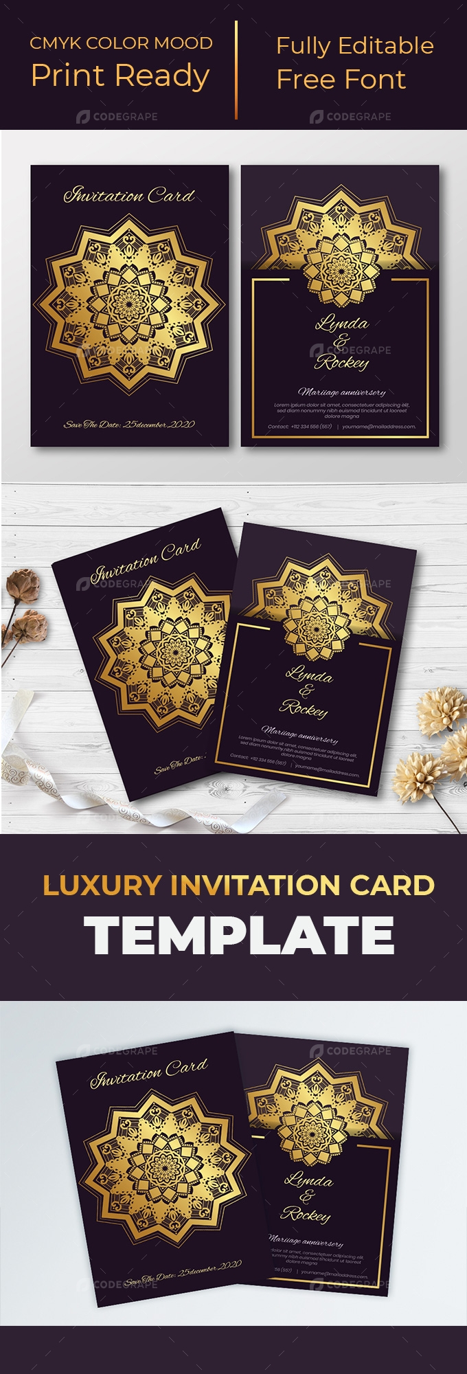 Luxury Invitation Card Design Template