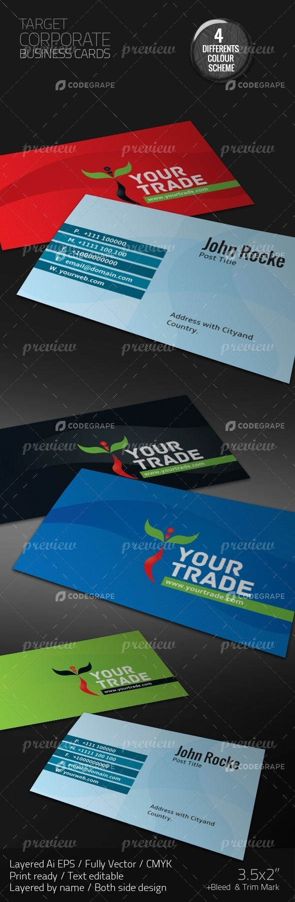 Your Trade Corporate Business Cards