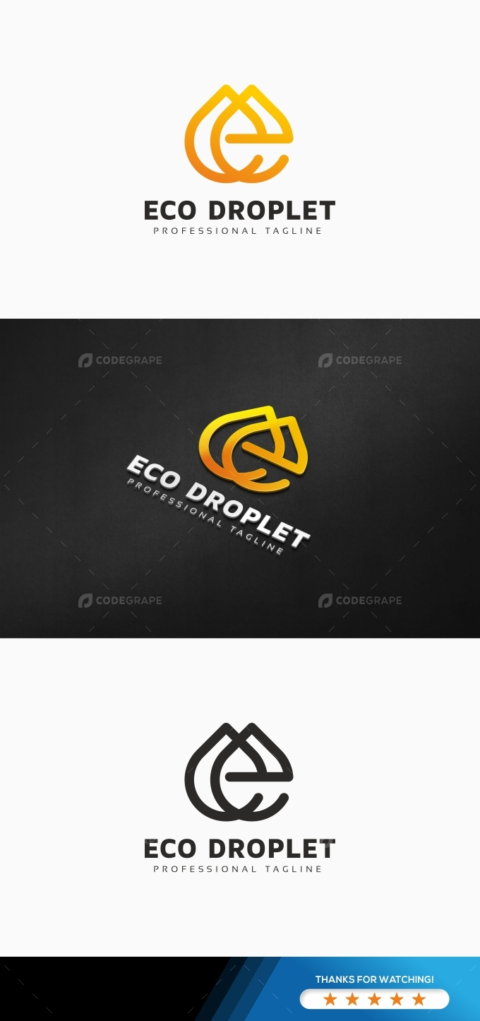 E Letter Drop Logo