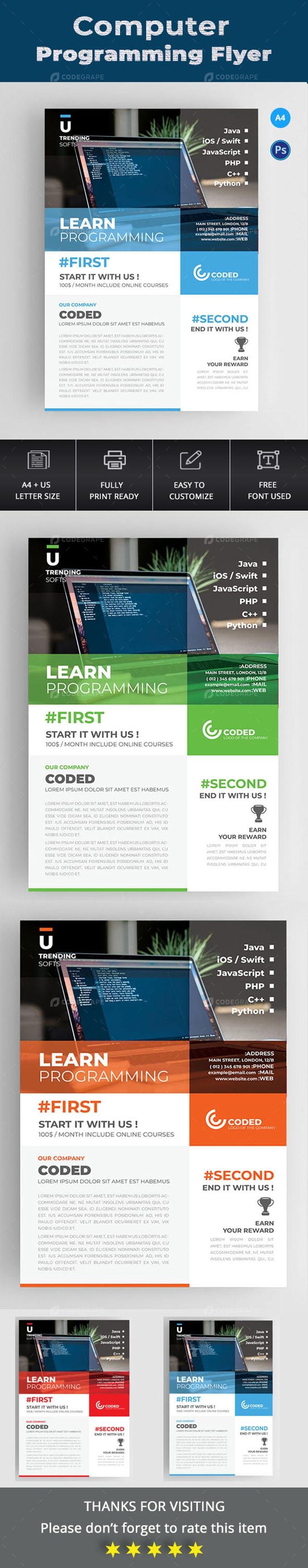 Computer Programming Flyer.
