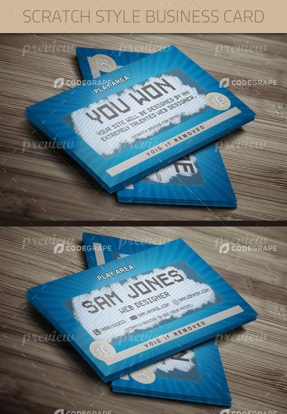Scratch Style Business Card