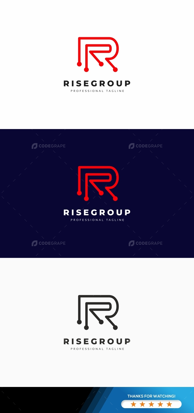 R Letter Tech Logo
