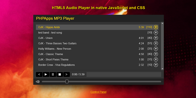 HTML5 Audio Player