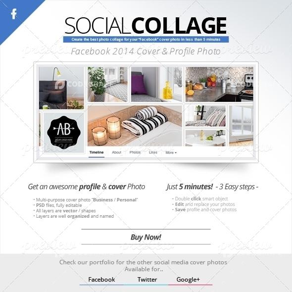 Social Collage | Cover & Profile | Facebook 2014