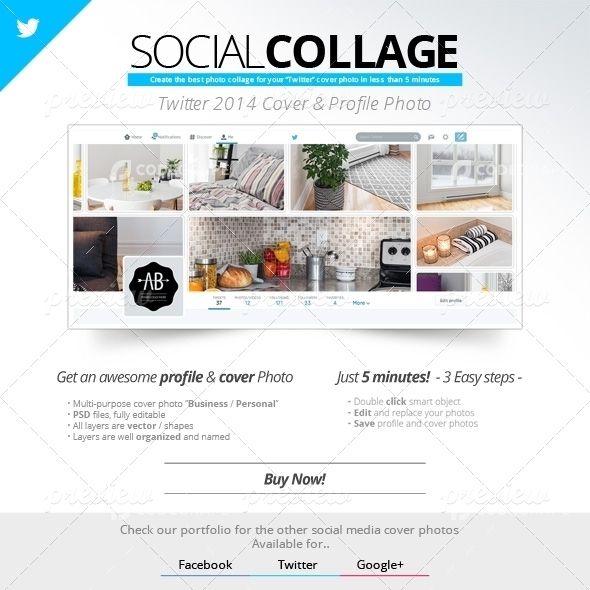 Social Collage | Cover & Profile | Twitter 2014