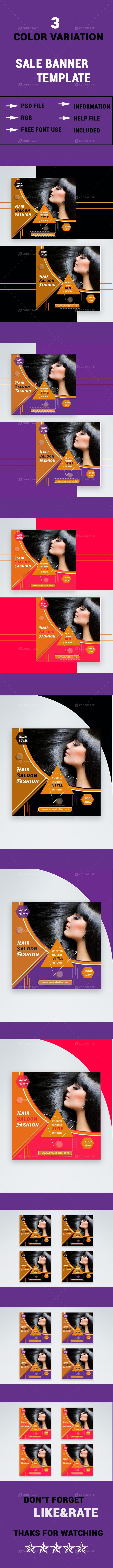 Hair Saloon Fashion Sale Banner
